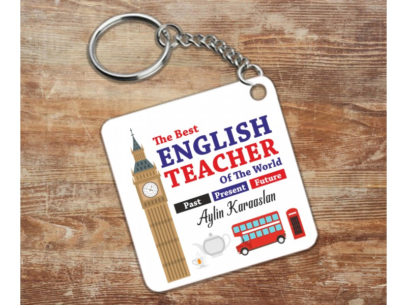 İngiizce Öğretmeni Tasarımlı Anahtarlık