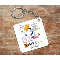 Kimya Öğretmeni Tasarımlı Anahtarlık