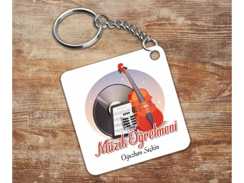Müzik Öğretmeni Tasarımlı Anahtarlık