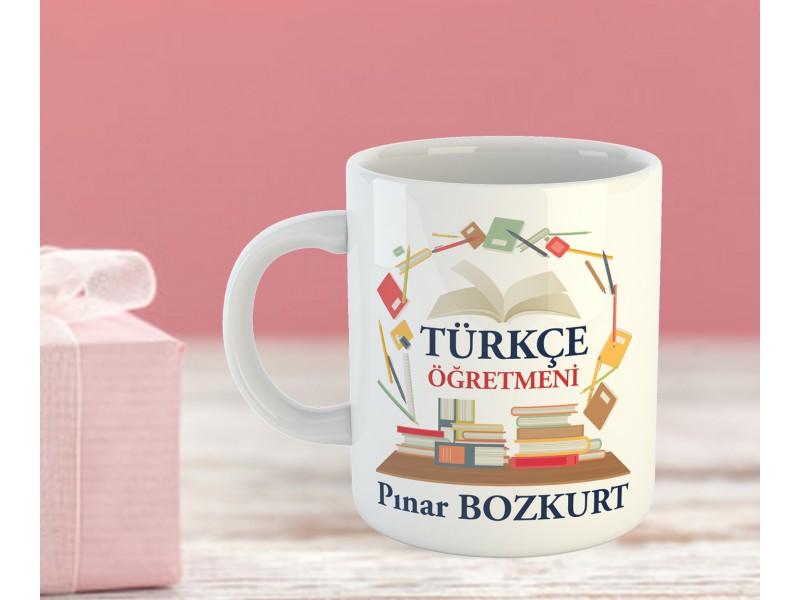 Türkçe Öğretmeni Tasarımlı Kupa Bardak