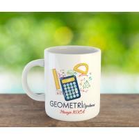Geometri Öğretmeni Tasarımlı Kupa Bardak