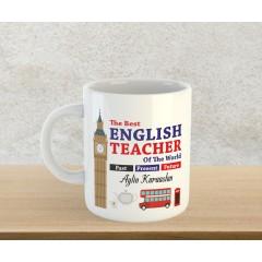 İngilizce Öğretmeni Tasarımlı Kupa Bardak