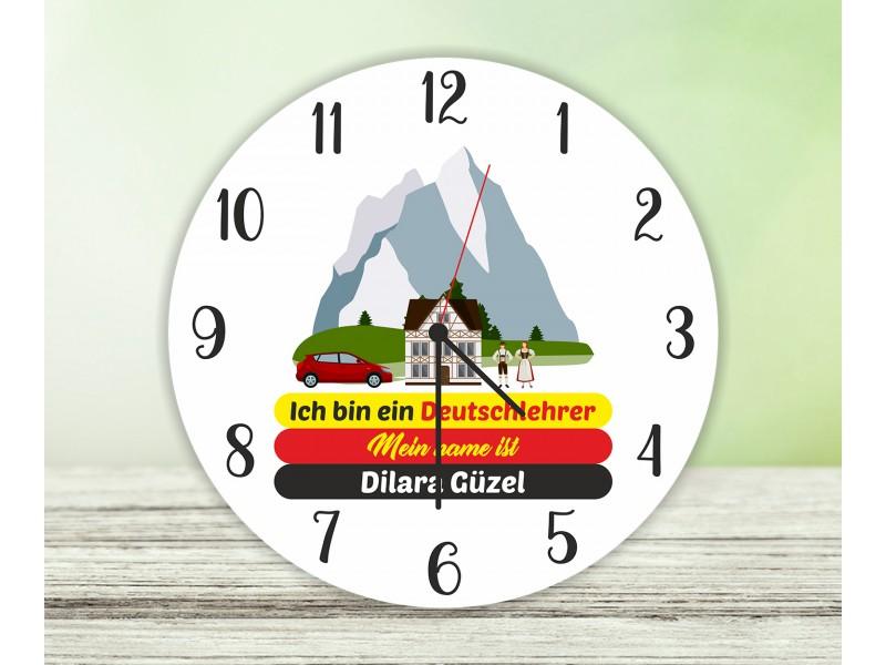 Almanca Öğretmeni Duvar Saati