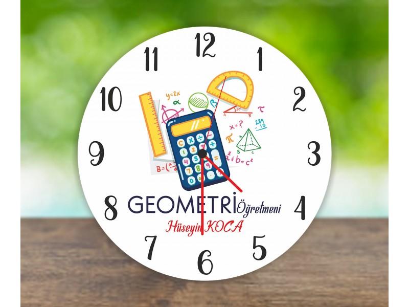 Geometri Öğretmeni Duvar Saati