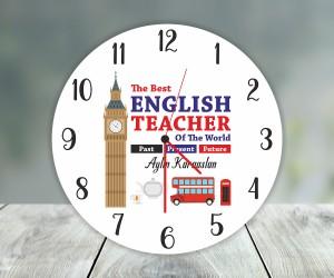 İngilizce Öğretmeni Duvar Saati