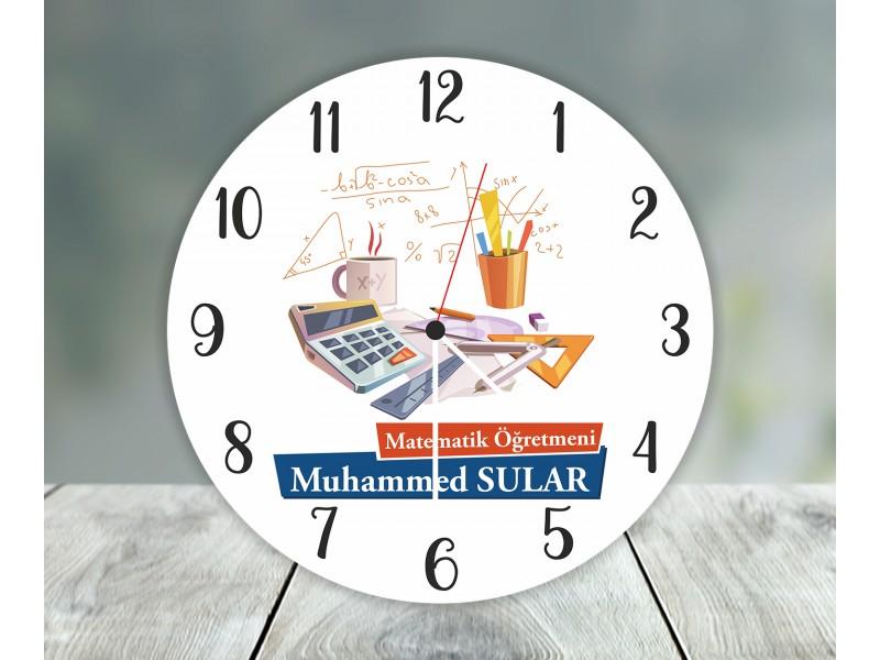 Matematik Öğretmeni Duvar Saati
