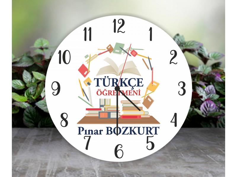 Türkçe Öğretmeni Duvar Saati