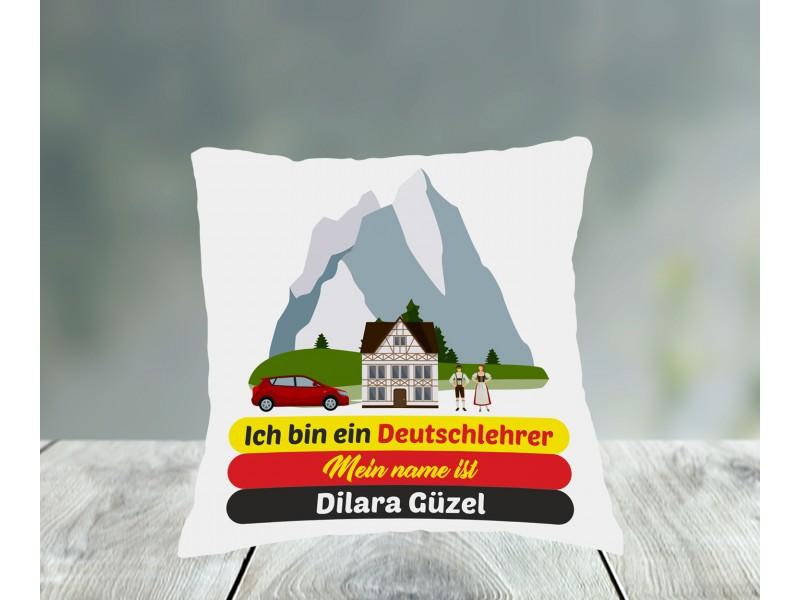 Almanca Öğretmeni Tasarımlı Yastık