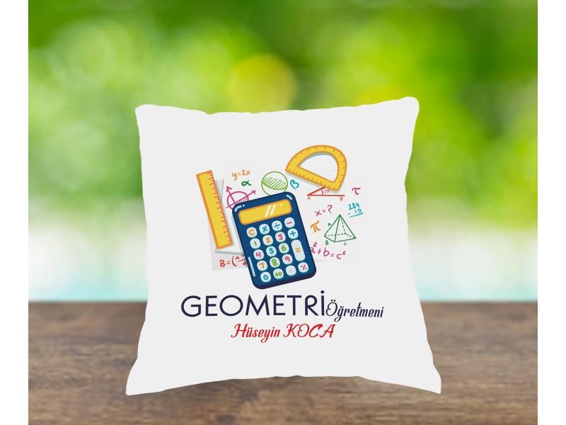 Geometri Öğretmeni Tasarımlı Yastık