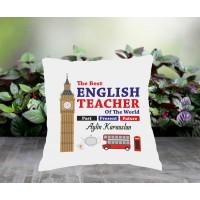 İngilizce Öğretmeni Tasarımlı Yastık - 2