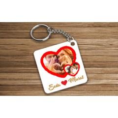 Sevgiliye Kalp Tasarımlı Anahtarlık