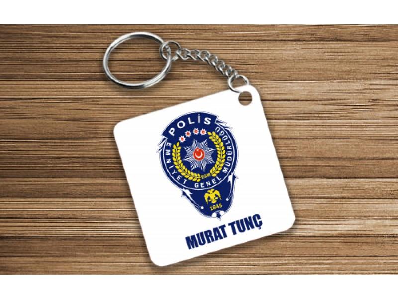 Polis Tasarımlı Anahtarlık