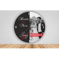 Seninle Sonsuz Sevgiye Tasarımlı Duvar Saati