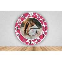 Sevgiliye Hediye Fotoğraflı Duvar Saati