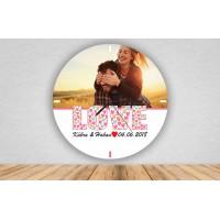 Love Tasarımlı Sevgiliye Özel Duvar Saati