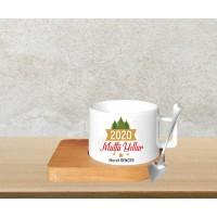 Çam Ağacı Tasarımlı Kahve Fincanı