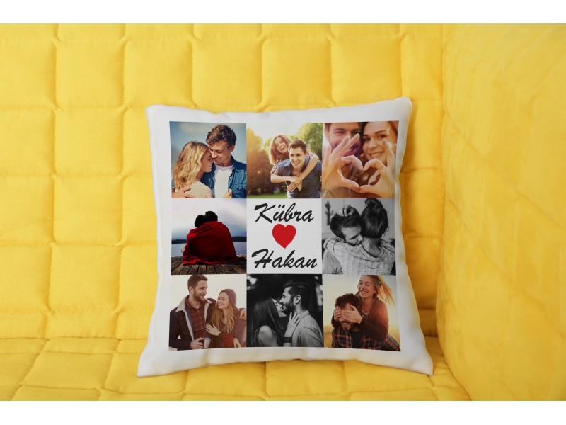 8 Fotoğraflı Kolaj Yastık