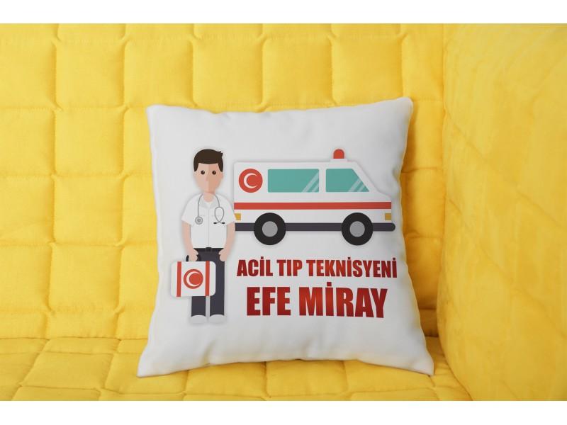 Acil Tıp Teknisyeni Tasarımlı Yastık - Erkek