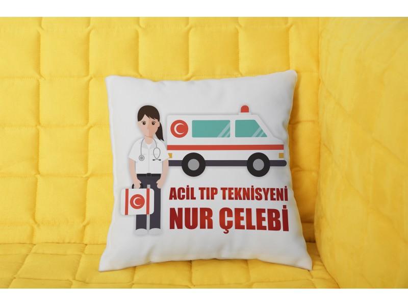 Acil Tıp Teknisyeni Tasarımlı Yastık - Kadın