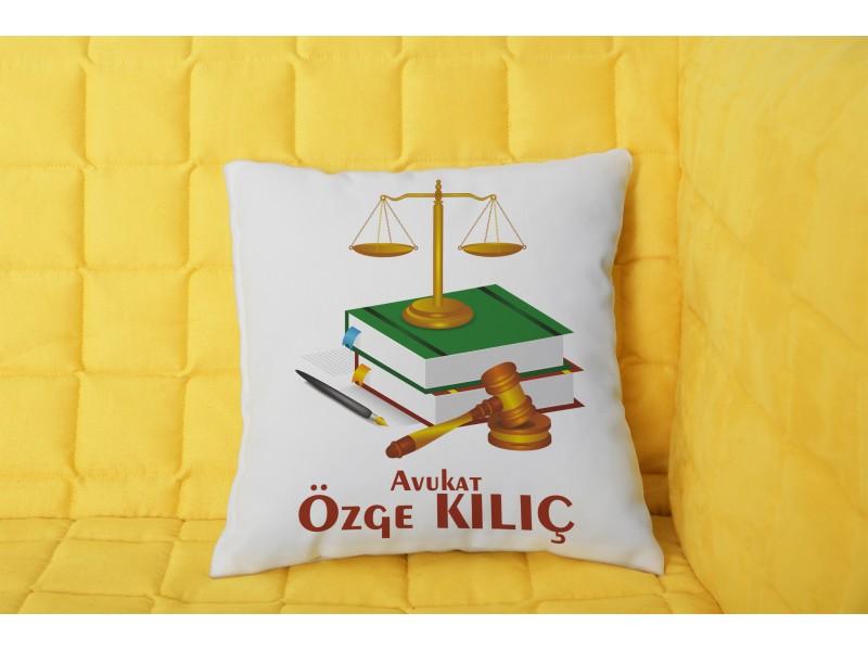 Avukat Tasarımlı Yastık - 2