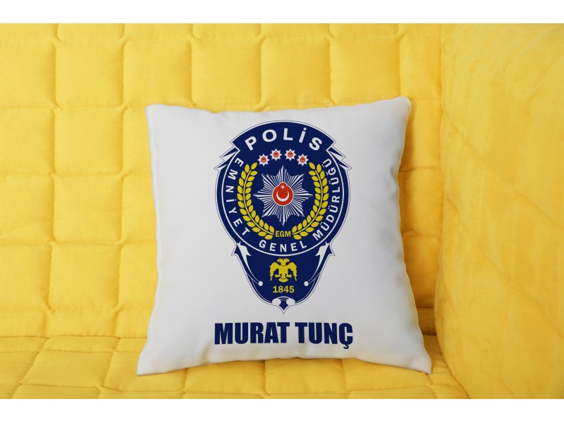 Polis Tasarımlı Yastık