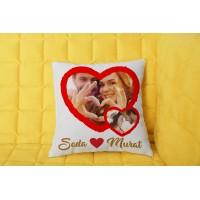 Sevgiliye Kalp Tasarımlı Yastık