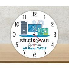Bilgisayar Öğretmeni Duvar Saati