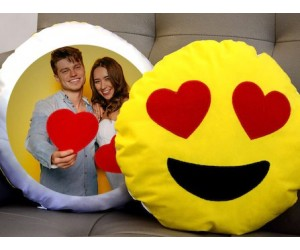 Aşk Dolu Bakış Emoji Yastık